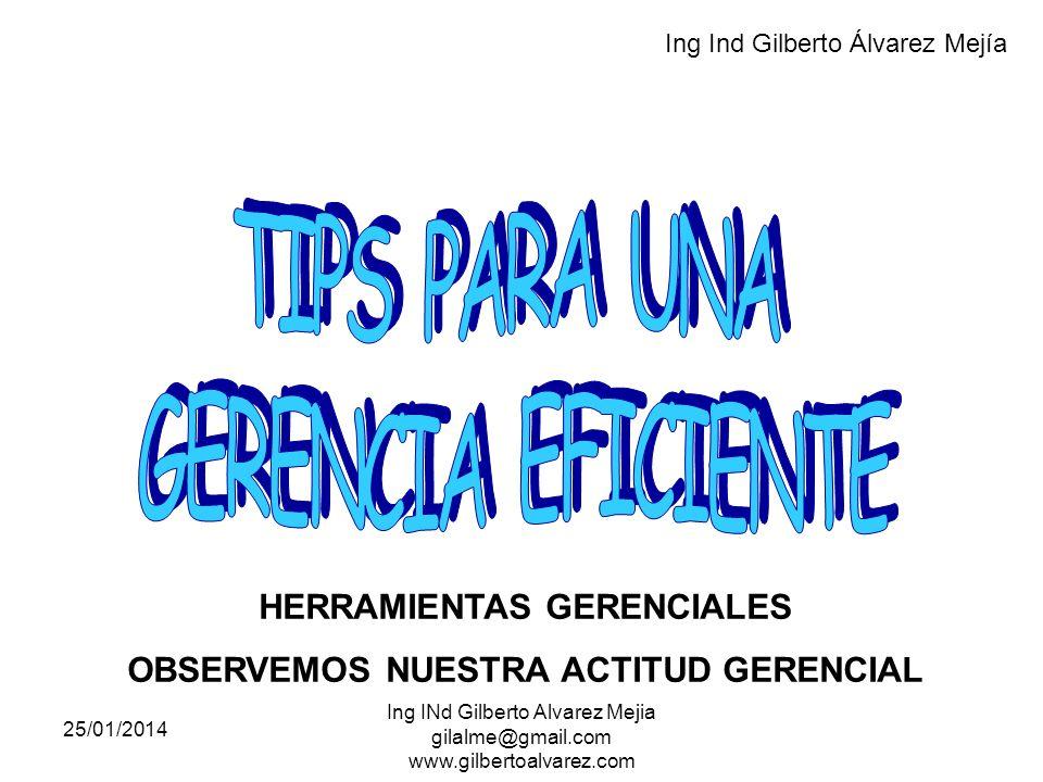 HERRAMIENTAS GERENCIALES OBSERVEMOS NUESTRA ACTITUD GERENCIAL