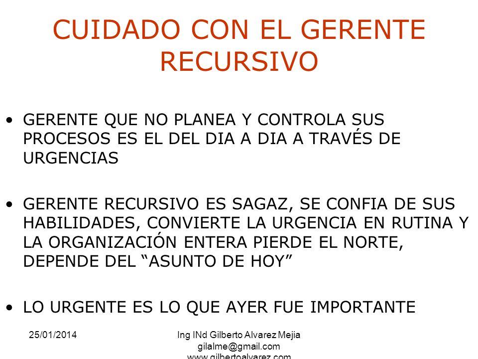 CUIDADO CON EL GERENTE RECURSIVO
