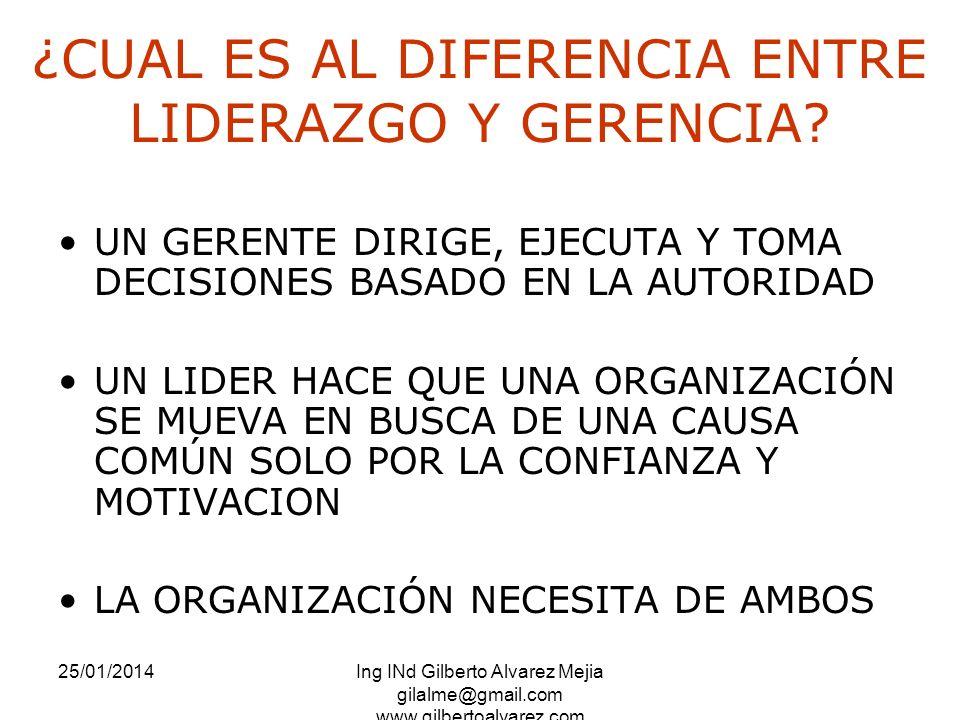 ¿CUAL ES AL DIFERENCIA ENTRE LIDERAZGO Y GERENCIA