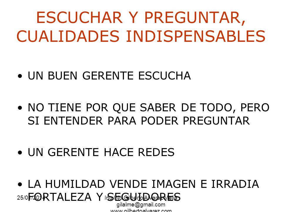 ESCUCHAR Y PREGUNTAR, CUALIDADES INDISPENSABLES