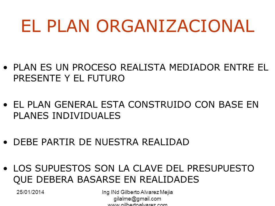 EL PLAN ORGANIZACIONAL