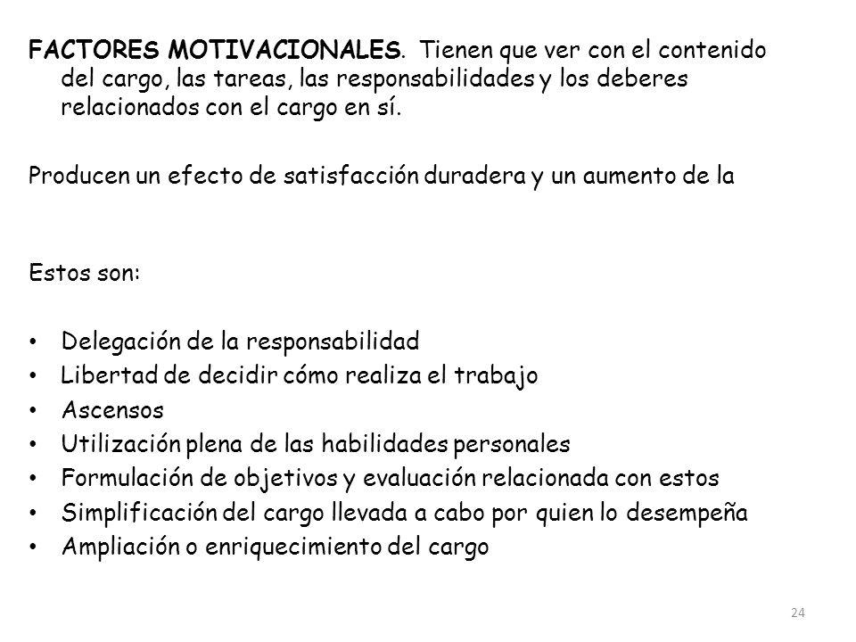 FACTORES MOTIVACIONALES