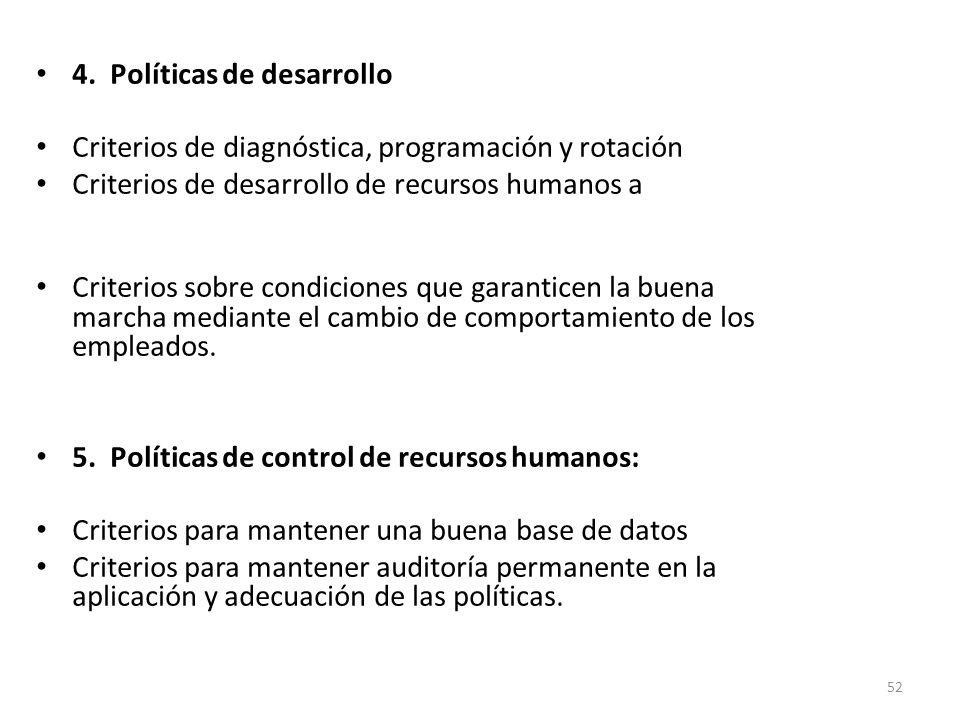 4. Políticas de desarrollo