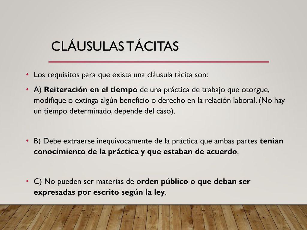 El contrato individual de trabajo ppt descargar for Que es una clausula