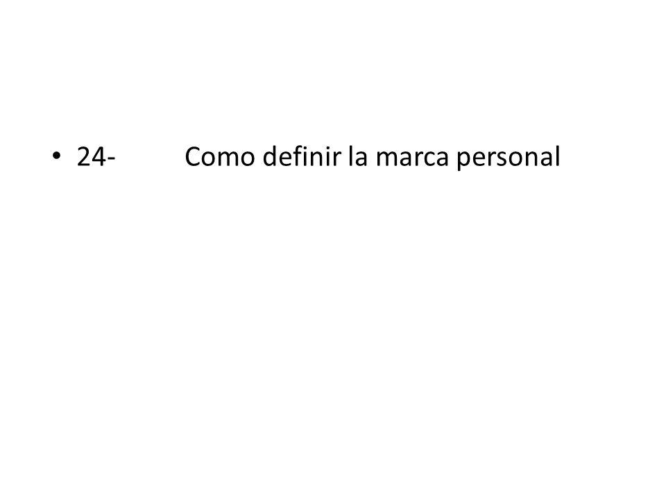 24- Como definir la marca personal