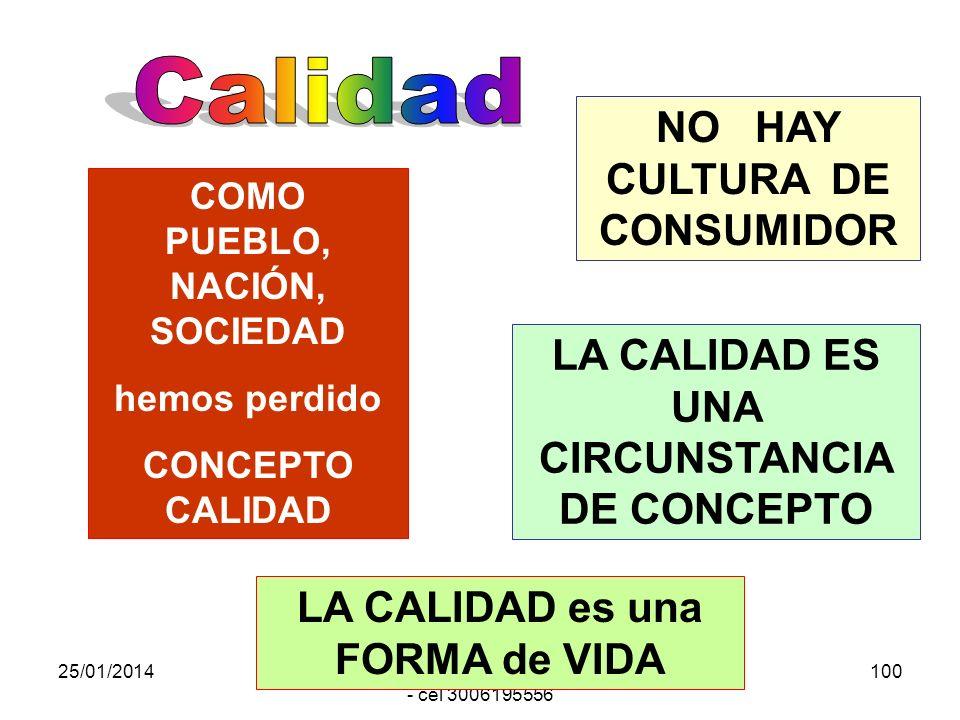 Calidad NO HAY CULTURA DE CONSUMIDOR