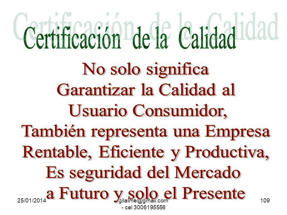 Certificación de la Calidad