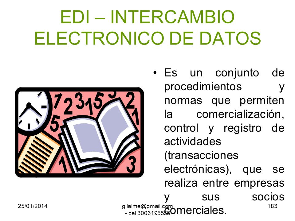 EDI – INTERCAMBIO ELECTRONICO DE DATOS