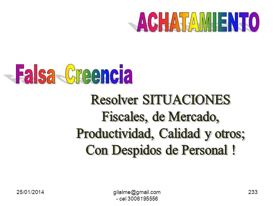 Productividad, Calidad y otros; Con Despidos de Personal !