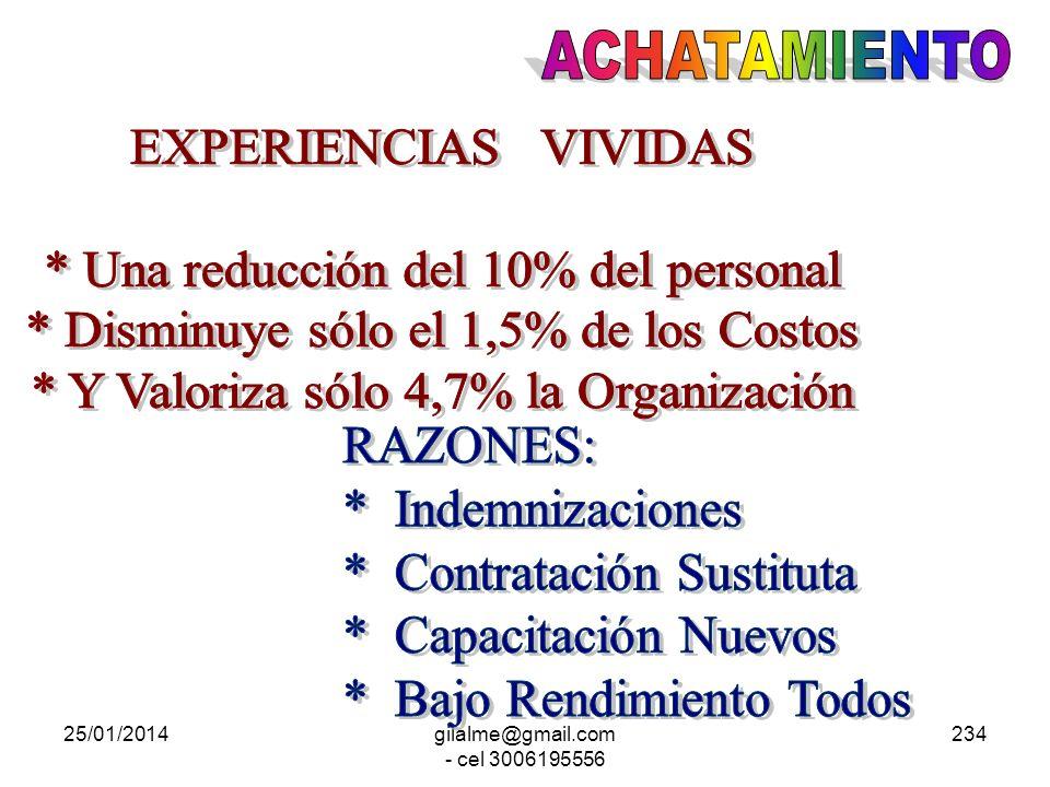 * Una reducción del 10% del personal