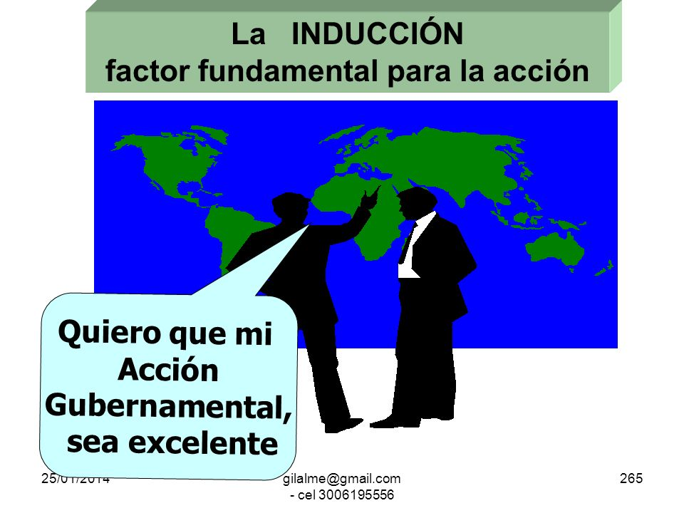 La INDUCCIÓN factor fundamental para la acción