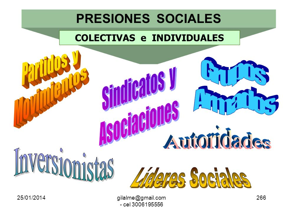 COLECTIVAS e INDIVIDUALES