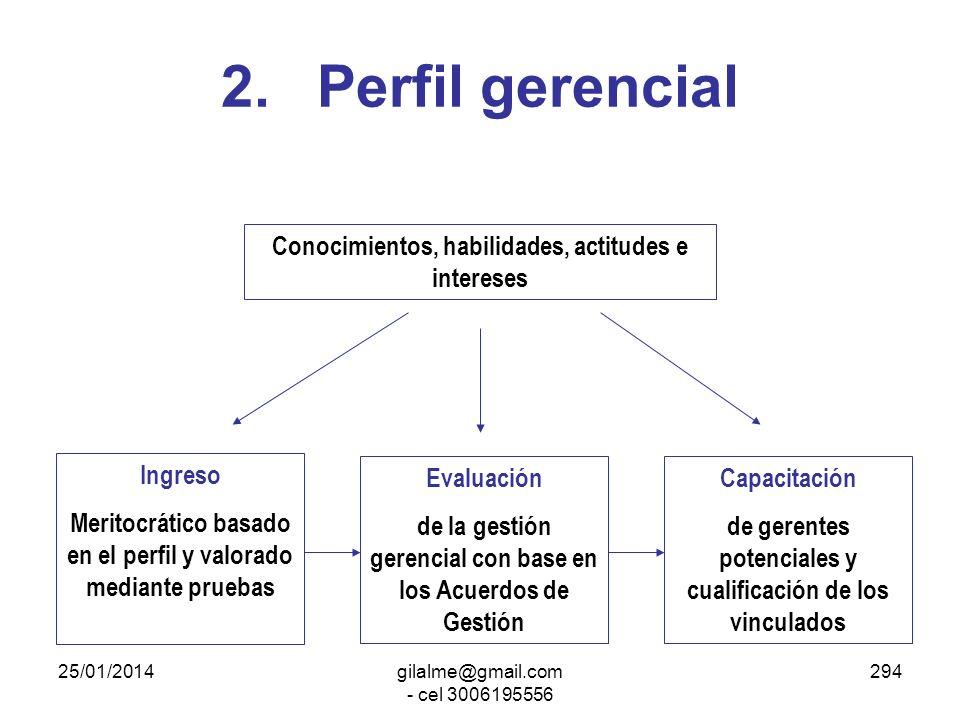 2. Perfil gerencial Conocimientos, habilidades, actitudes e intereses