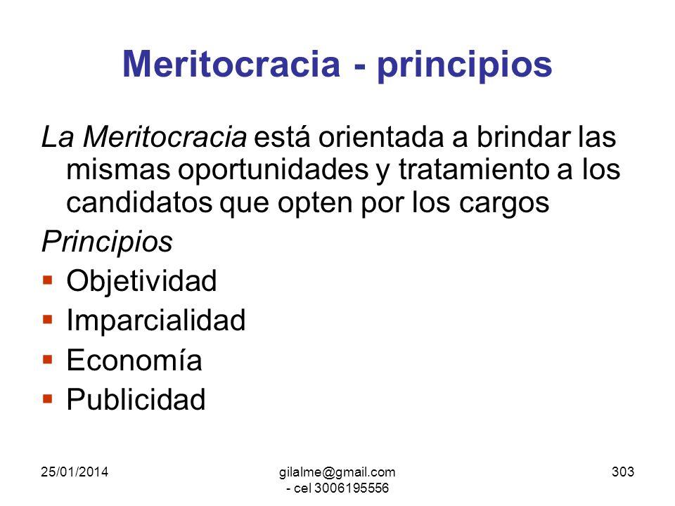 Meritocracia - principios