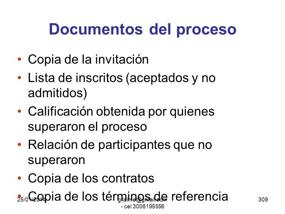 Documentos del proceso
