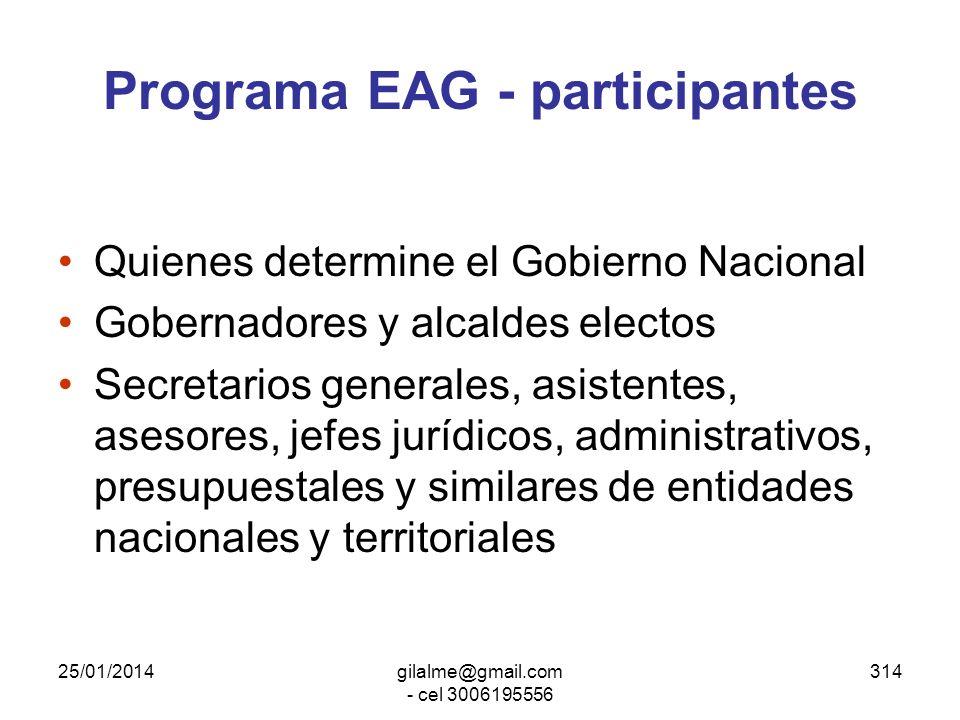 Programa EAG - participantes