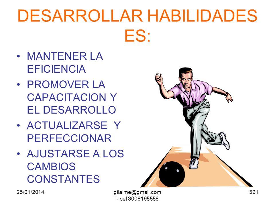 DESARROLLAR HABILIDADES ES: