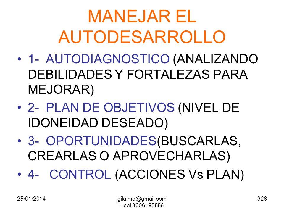 MANEJAR EL AUTODESARROLLO