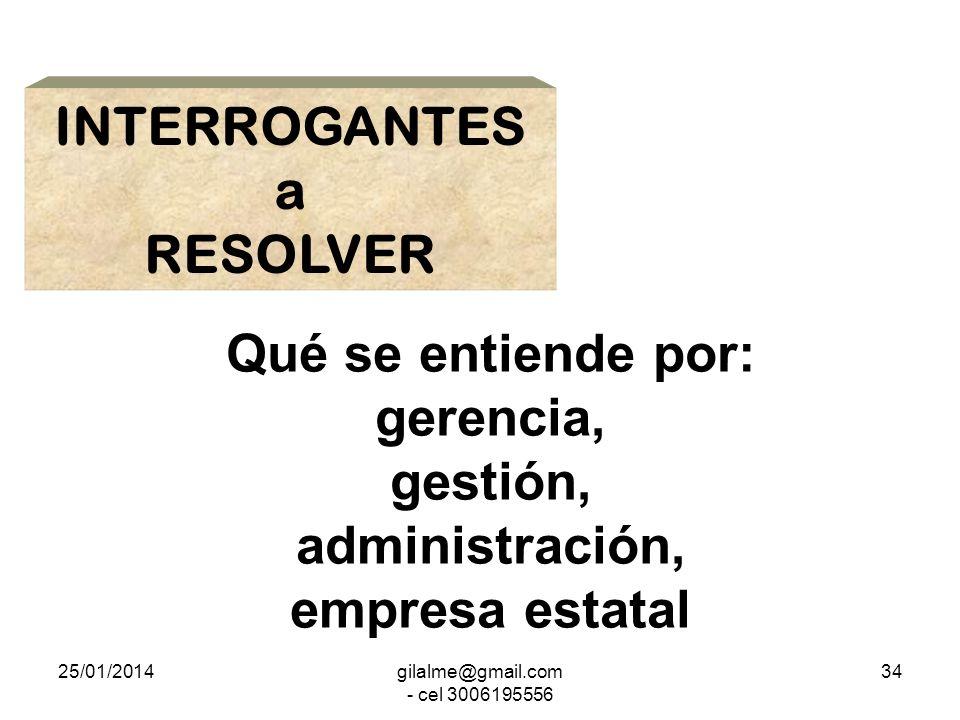 INTERROGANTES a RESOLVER