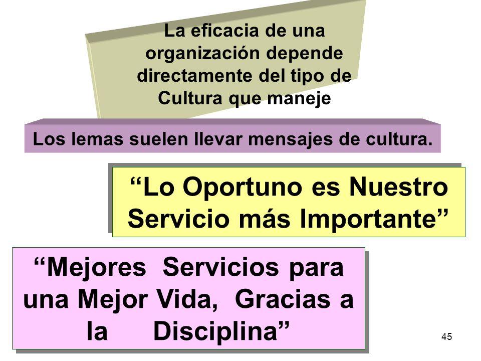Lo Oportuno es Nuestro Servicio más Importante