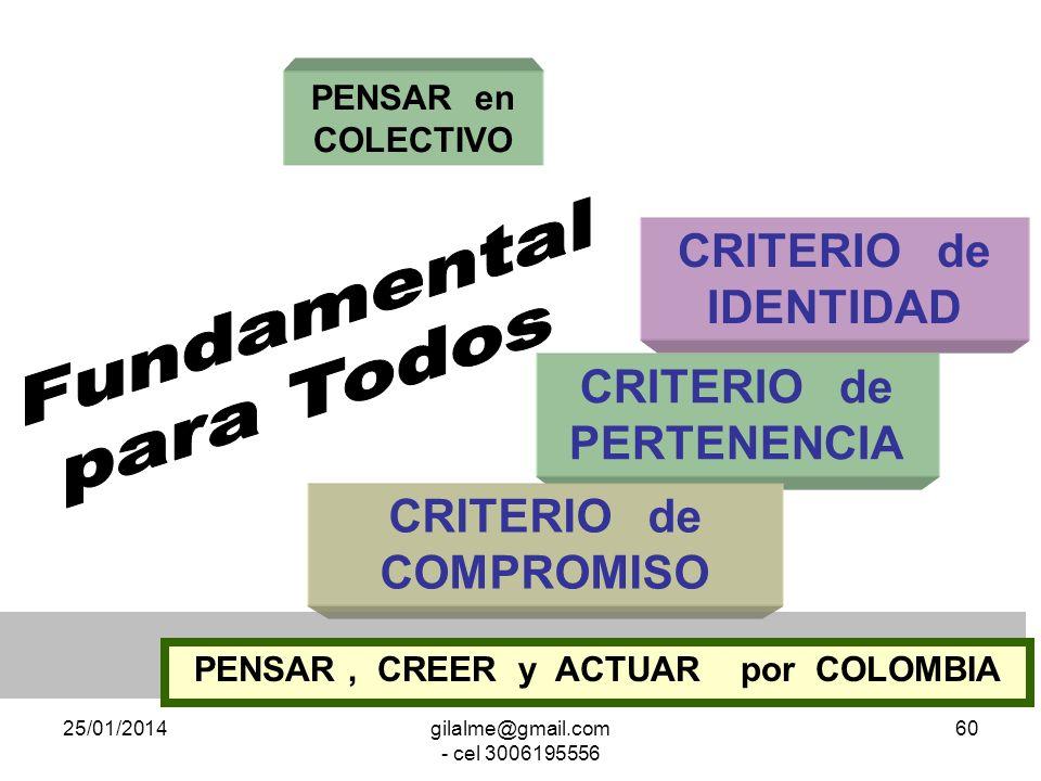 Fundamental para Todos CRITERIO de IDENTIDAD CRITERIO de PERTENENCIA