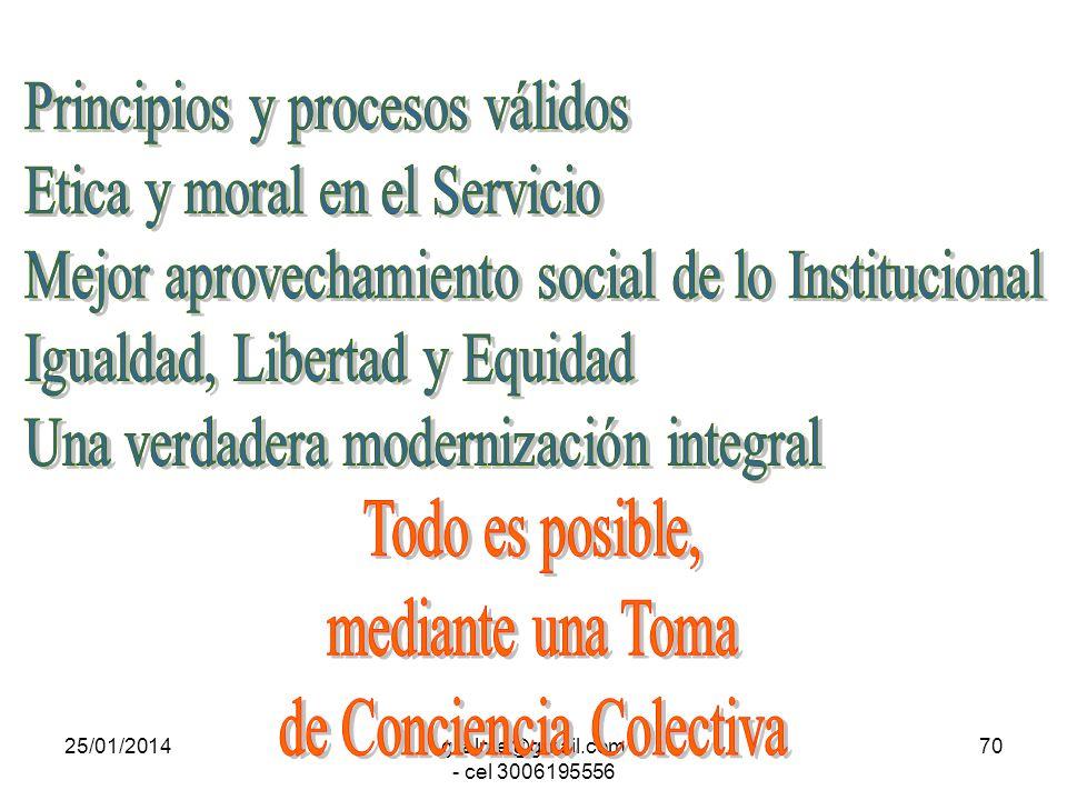 Principios y procesos válidos Etica y moral en el Servicio
