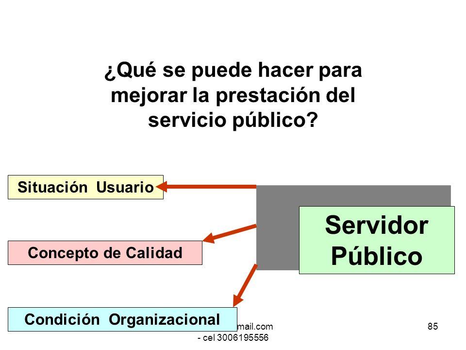 ¿Qué se puede hacer para mejorar la prestación del servicio público