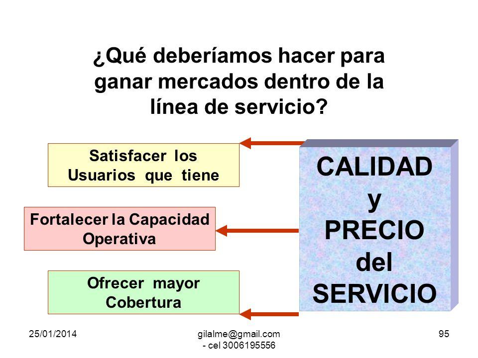 CALIDAD y PRECIO del SERVICIO