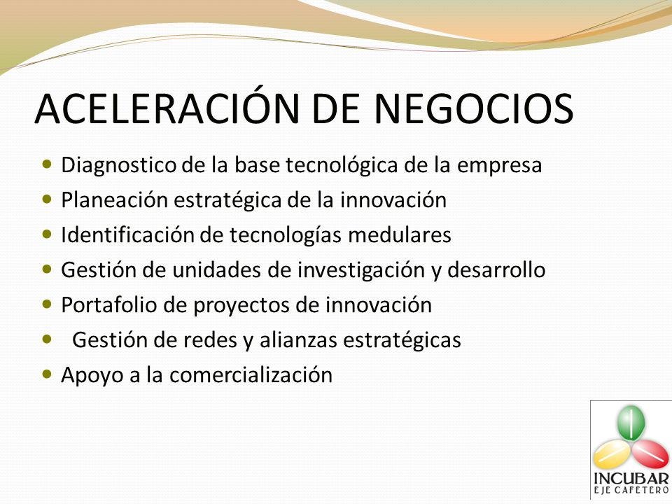 ACELERACIÓN DE NEGOCIOS