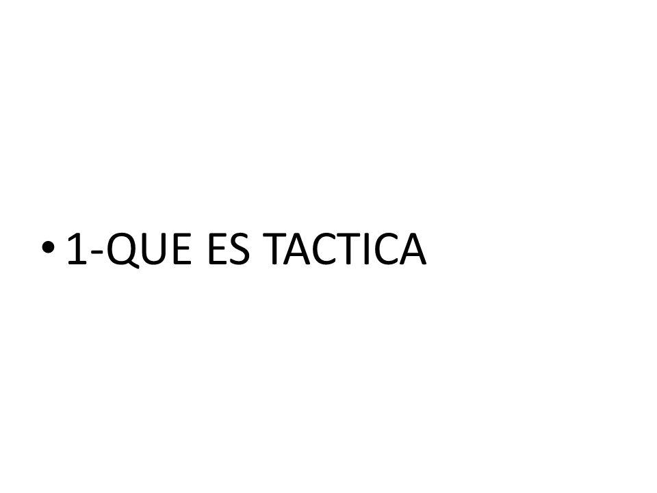 1- QUE ES TACTICA