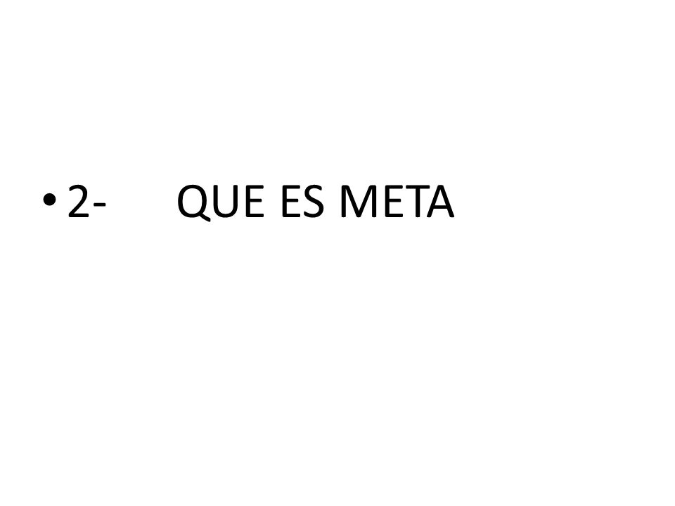 2- QUE ES META