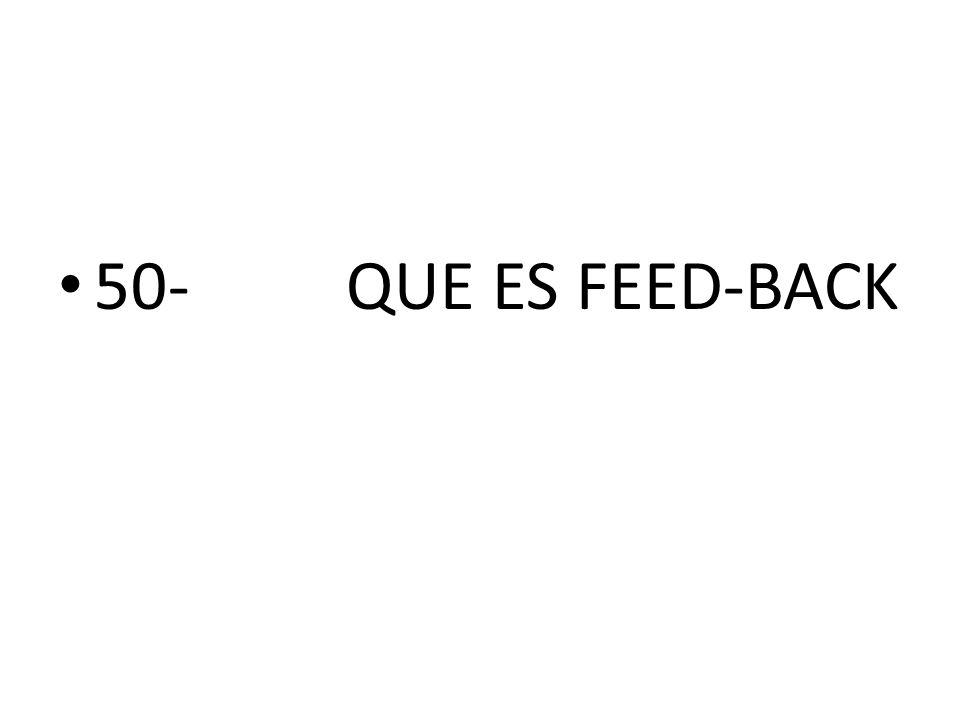 50- QUE ES FEED-BACK