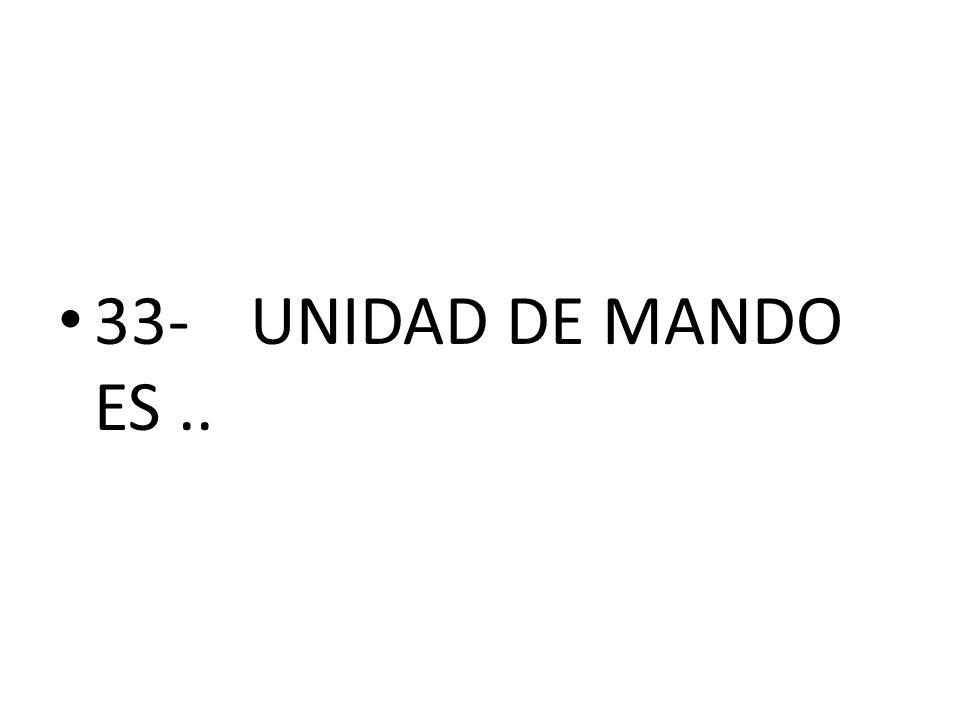 33- UNIDAD DE MANDO ES ..