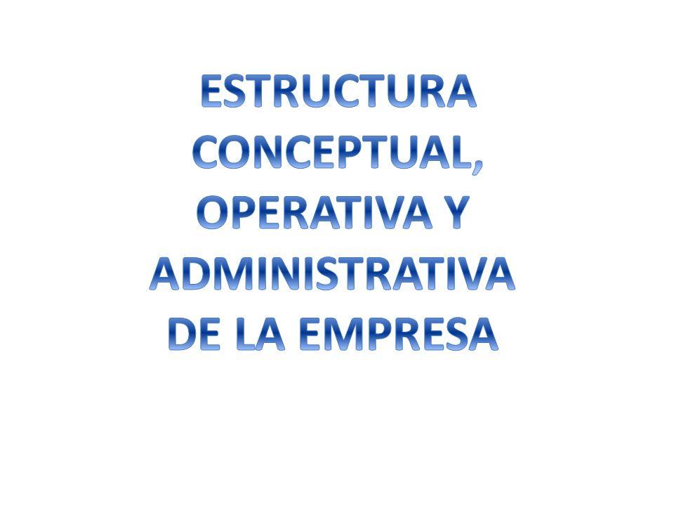 ESTRUCTURA CONCEPTUAL, OPERATIVA Y ADMINISTRATIVA DE LA EMPRESA