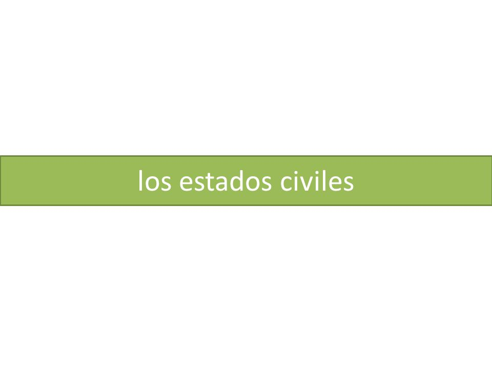 los estados civiles
