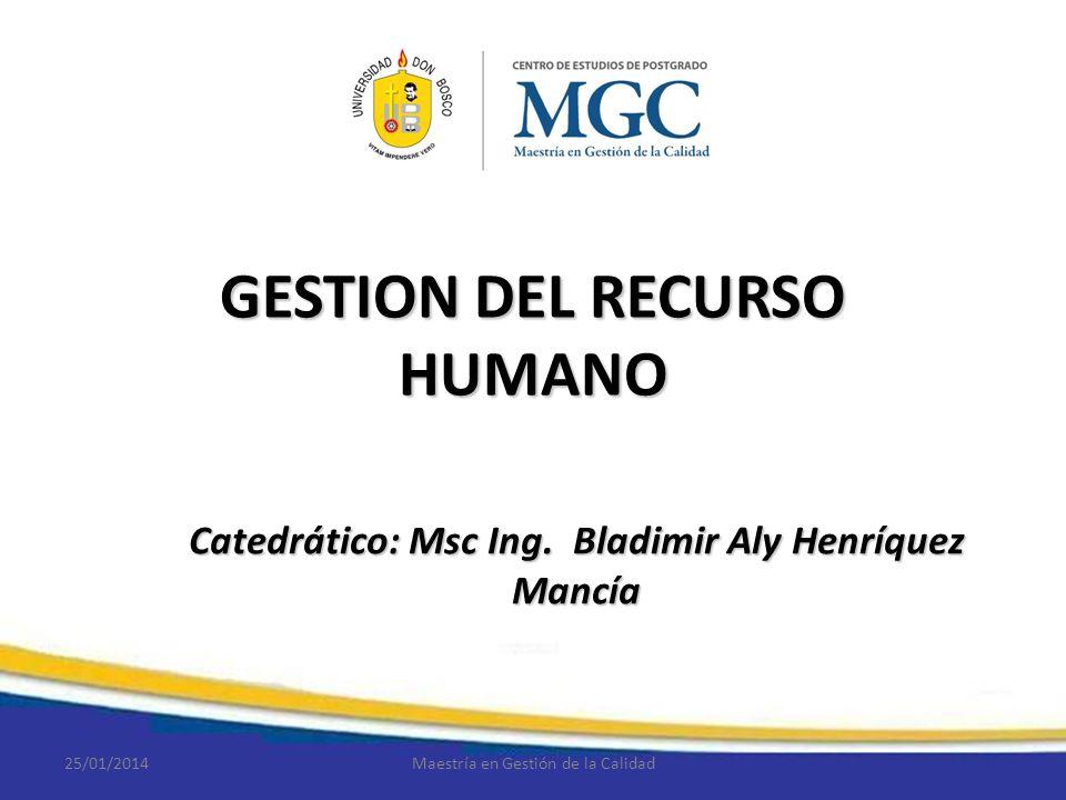 GESTION DEL RECURSO HUMANO
