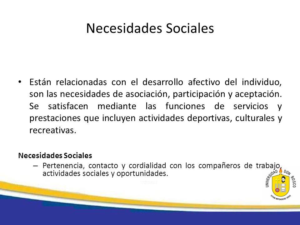 Necesidades Sociales