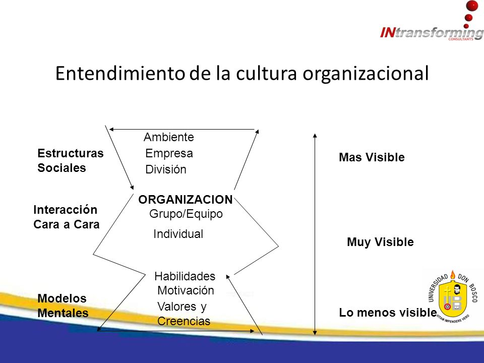 Entendimiento de la cultura organizacional