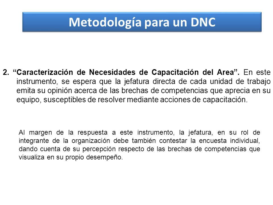 Metodología para un DNC