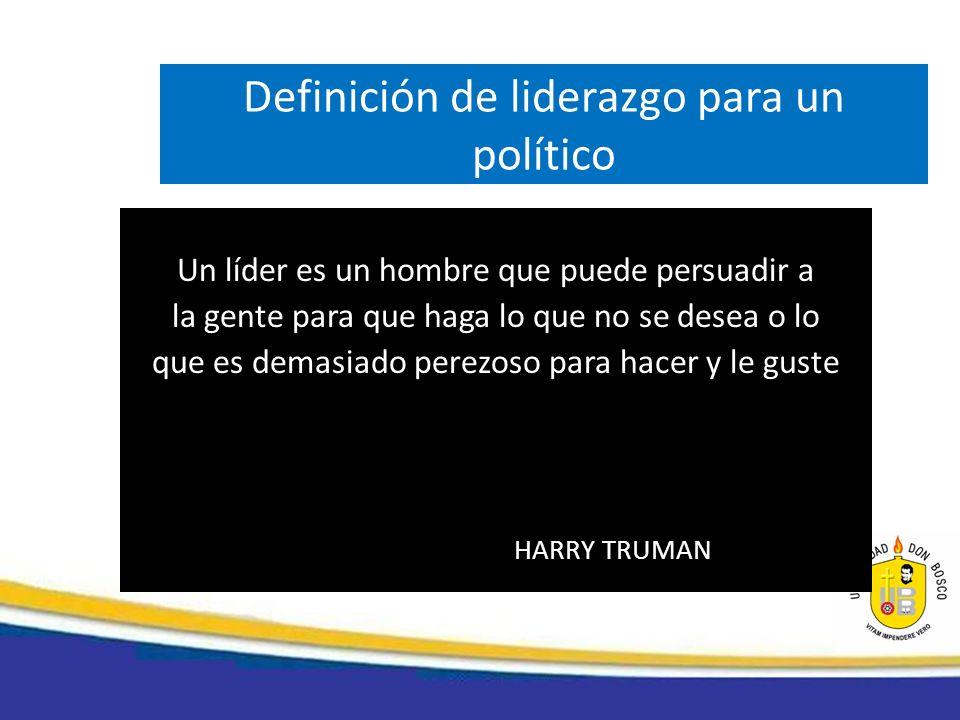 Definición de liderazgo para un político