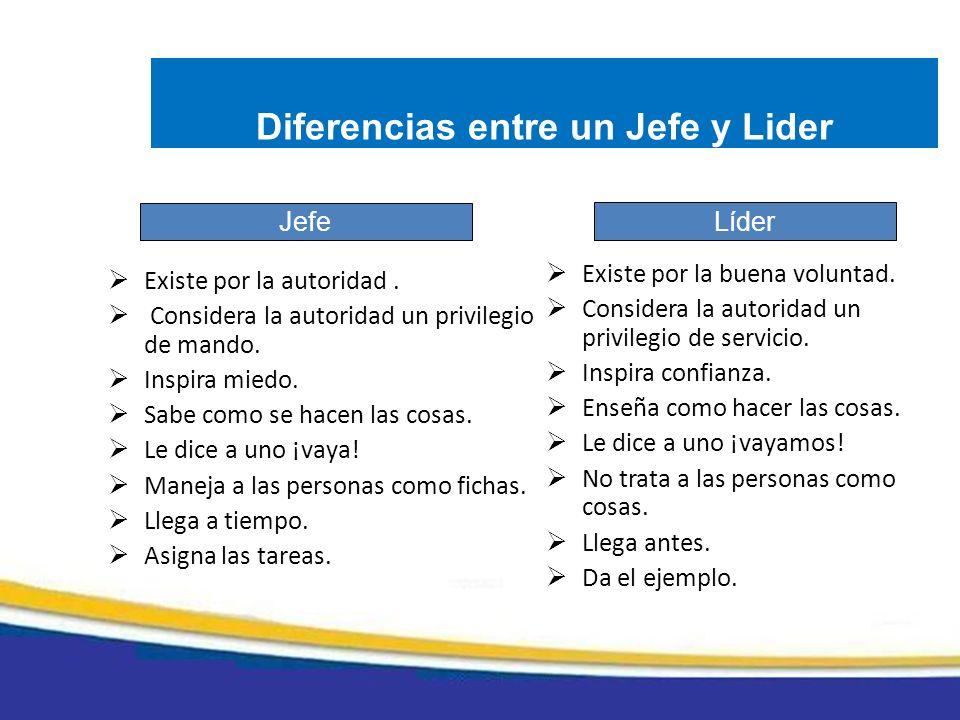 Diferencias entre un Jefe y Lider