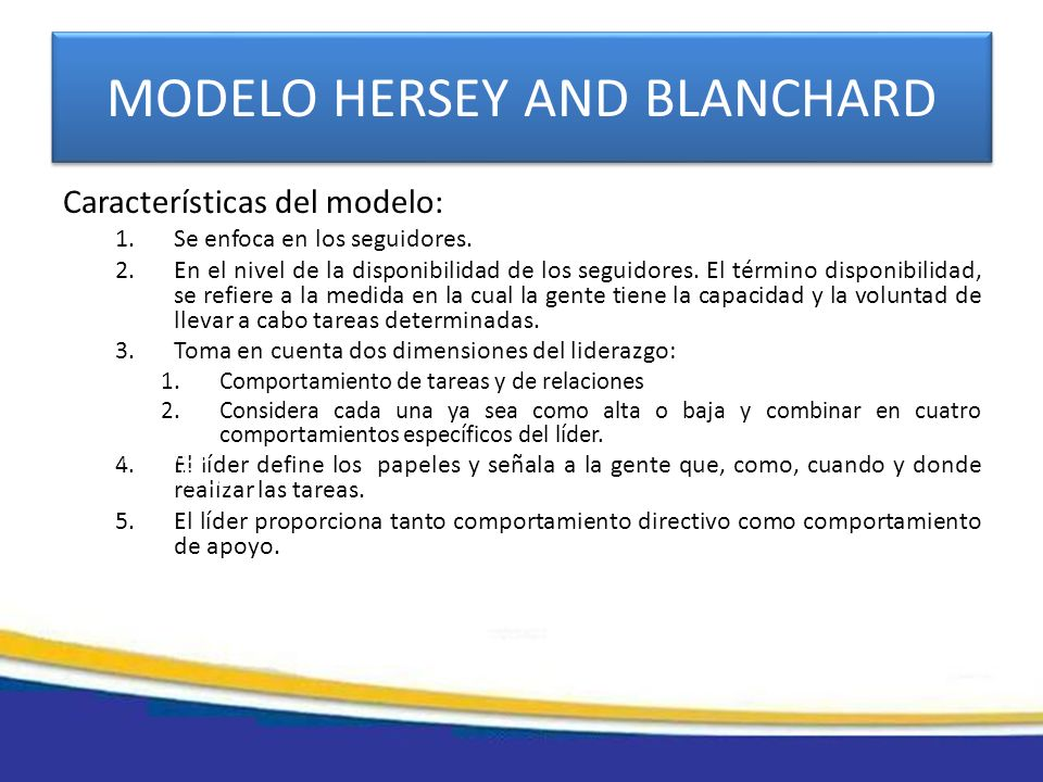 MODELO HERSEY AND BLANCHARD
