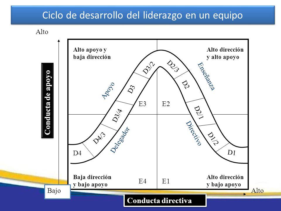 Ciclo de desarrollo del liderazgo en un equipo