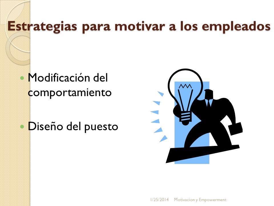 Estrategias para motivar a los empleados