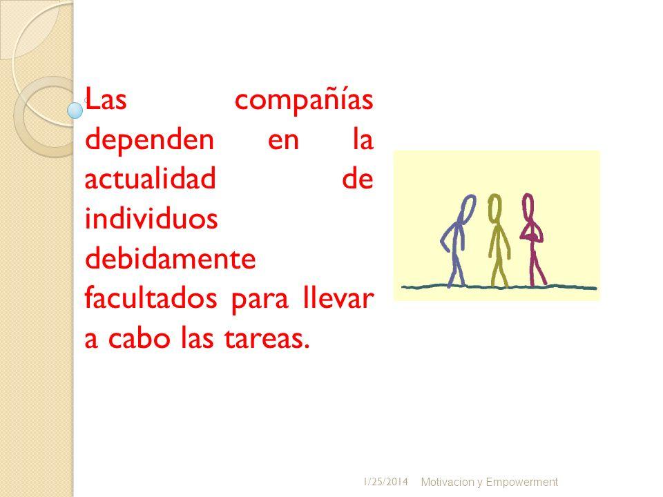 Las compañías dependen en la actualidad de individuos debidamente facultados para llevar a cabo las tareas.