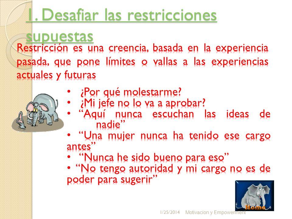1. Desafiar las restricciones supuestas