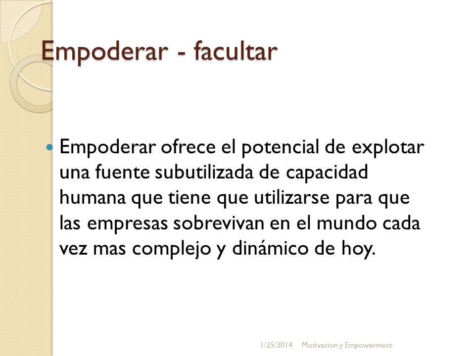 Empoderar - facultar