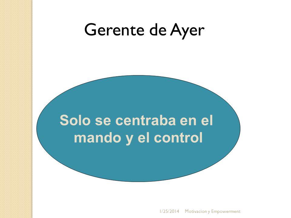Gerente de Ayer Solo se centraba en el mando y el control 3/24/2017