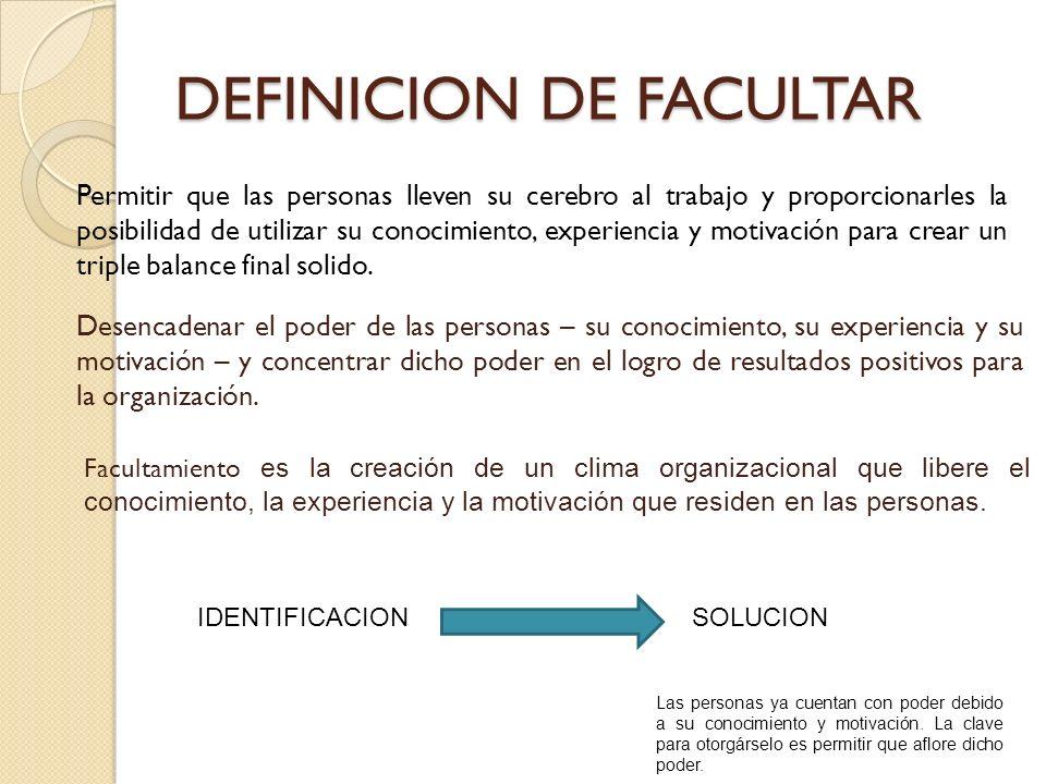 DEFINICION DE FACULTAR
