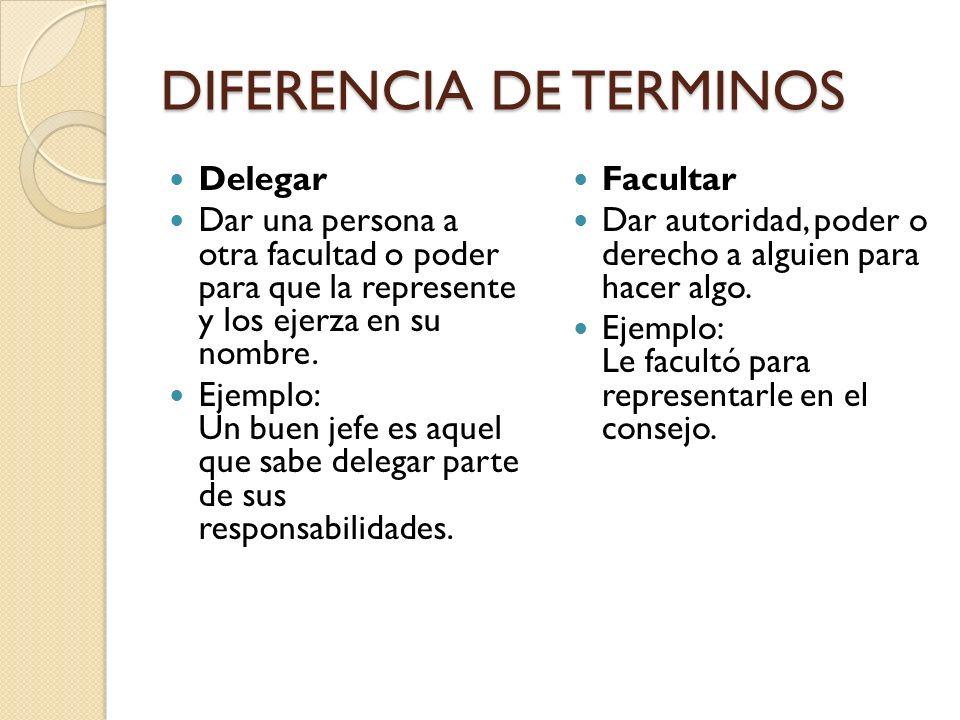 DIFERENCIA DE TERMINOS
